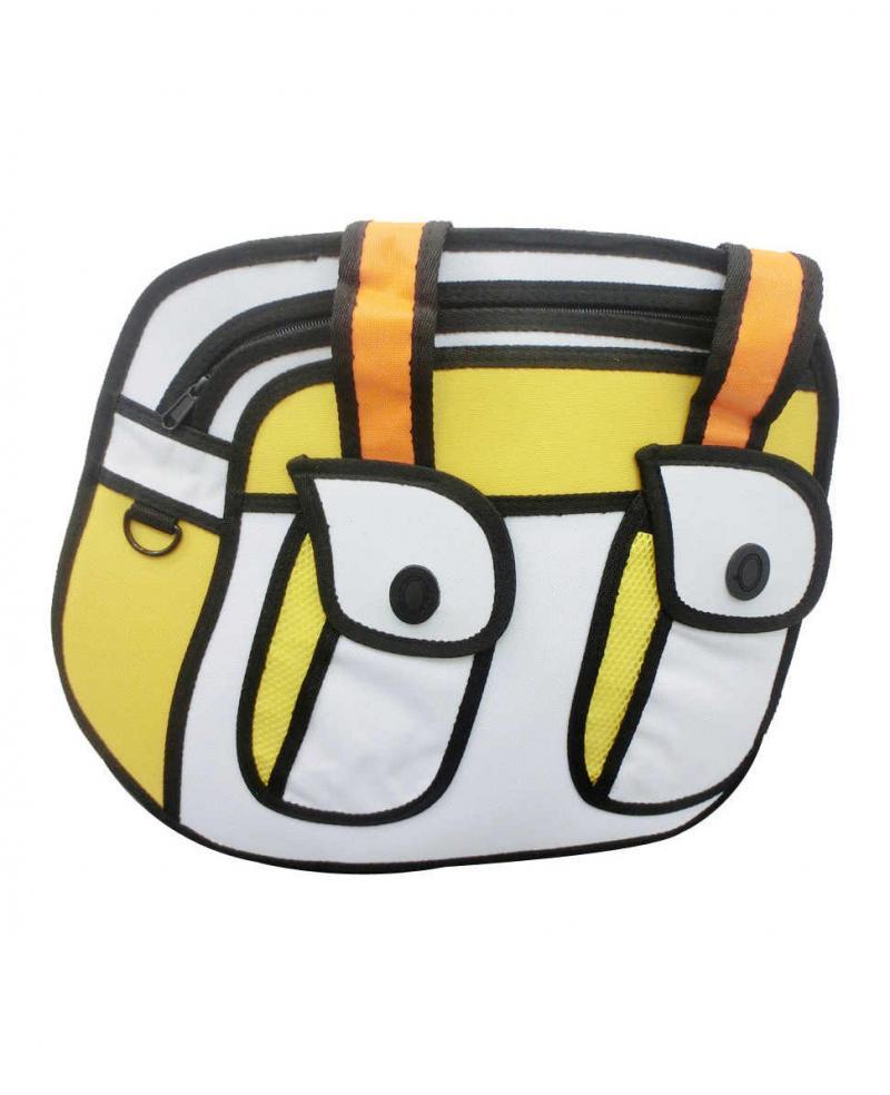 Yellow Retro 2d Anime Handbag