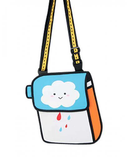FUNNY CARTOON RAIN CLOUD PAPER BAG