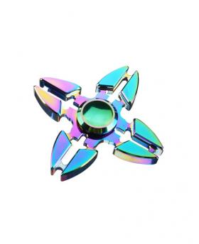 Rainbow Plating Reflective Tri Fidget Hand Spinner Focus Finger Gyro EDC Toy