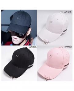 Fashion Women and Men Triple Iron Rings Cap Black/Pink/White