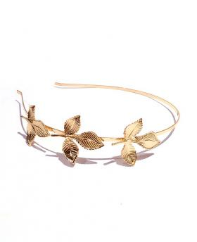 Korea Fashion Maple Gold Hair Accessories