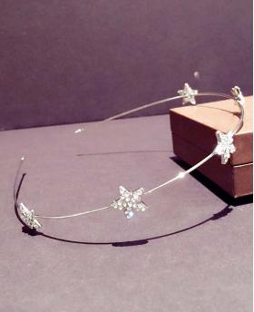 Korea Fashion Rhinestone Stars Silver Hair Accessories