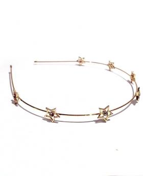 Korea Fashion Rhinestone Stars Gold Hair Accessories