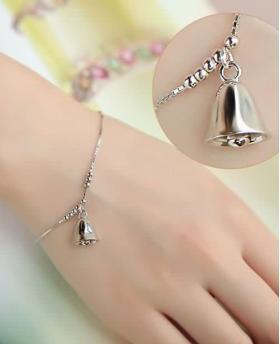 Fashion S925 Silver Bell Bracelet