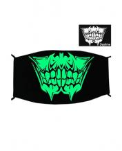 Special Green Luminous Printing Halloween Rave Mask For Ravers No.18