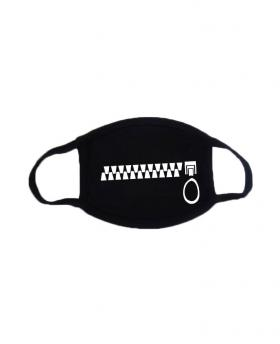 Zipper Printing Halloween Rave Mask For Ravers with Filters
