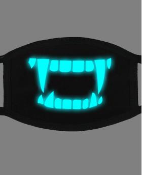 Special Blue Noctilucent Printing Halloween Rave Mask For Ravers No.1