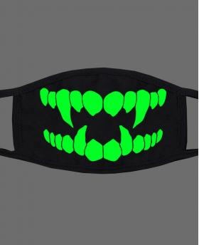 Special Green Noctilucent Printing Halloween Rave Mask For Ravers No.22
