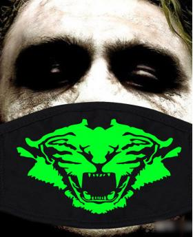 Special Green Luminous Printing Halloween Rave Mask For Ravers No.23