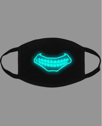 Special Blue Luminous Printing Halloween Rave Mask For Ravers No.8