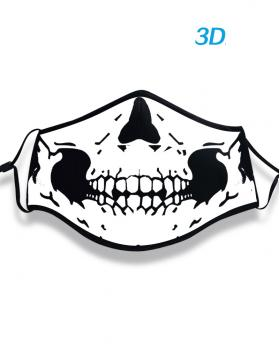 Cotton Material Digital Printing Halloween Rave Mask For Ravers with Filters - Skull