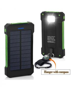 Creative Multi function Dual USB Portable Solar Battery Charger Power Bank with Lamp 8000 mAh