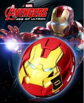 New Creative The Avengers Iron Man Portable Power Bank With SOS Lights 8800mAh