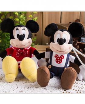 Cartoon Mickey Minnie Plush Doll Portable Power Bank