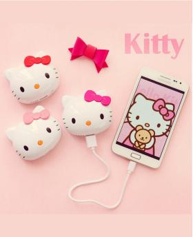 Mini Hellokitty Cute Cat Head Portable Power Bank 8000 mAh