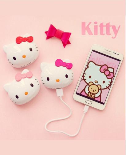 Mini Hellokitty Cute Cat Head Portable Power Bank 8000 mAh
