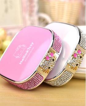 Cartoon Cute Rhinestones Hellokitty Cat Portable Power Bank 12000 mAh