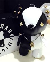 Super Cute Leather Black White Bear Power Bank 5200MAH