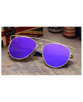 Fashion Colorful Reflective Flat Lens Sunglasses