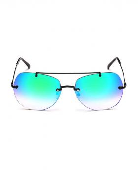 Fashion Metal Frame Colorful Lens Sunglasses