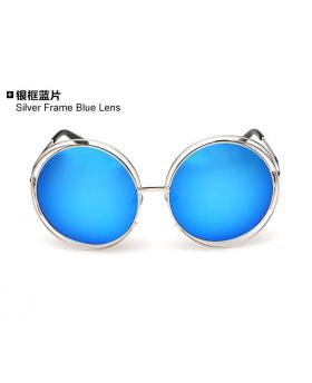 Casual Circular Sunglasses With Special Design Frame