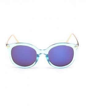 Metal Legs Circle Lens Sunglasses
