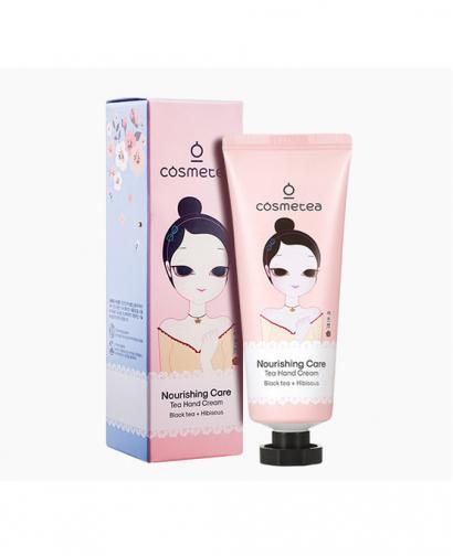 Korea Cosmetea Nourishing Care Tea Hand Cream 1.7 oz Black Tea & Hibiscus