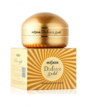 New MISKIN Dia Force 24K Gold Anti-Aging Hydro-Gel Eye Patch 60pcs (30pair)