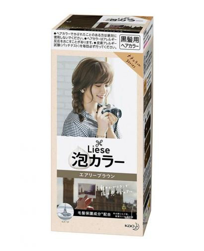 Kao Liese Prettia Bubble Hair Color, Airy Brown [Fade Decolorizer Recommended ]
