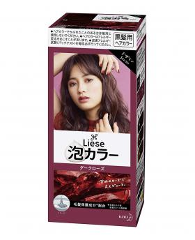 Kao Liese Prettia Bubble Hair Color, Dark Rose