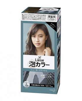 Kao Liese Prettia Bubble Hair Color, New York Ash [Fade Decolorizer Recommended ]