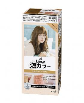 Kao Liese Prettia Bubble Hair Color, Milktea Brown [Fade Decolorizer Recommended ]