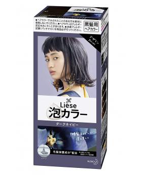 Kao Liese Prettia Bubble Hair Color, Dark Navy [Fade Decolorizer Recommended ]