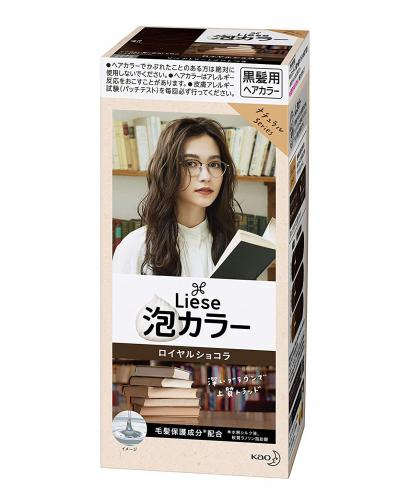 Kao Liese Prettia Bubble Hair Color, Royal Chocolate Darktone