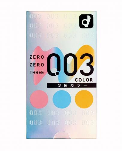 OKAMOTO 003 Three Color Condoms 12 Pcs