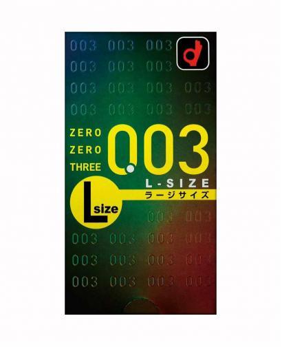 Okamoto Condom 003 0.03 mm Zero Three L Large Size 10pcs/1box