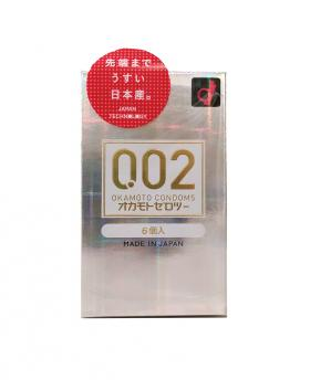 Japan OKAMOTO 002EX 0.02mm Condom Regular Size 6PCS/Pack