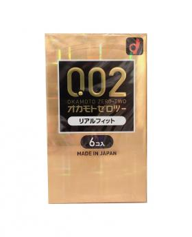 Japan OKAMOTO 002 EX Real Fit Condom Regular Size 6PCS/Pack