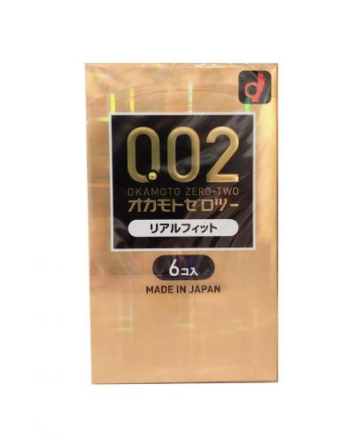 Japan OKAMOTO 002 EX Real Fit Condom Regular Size 6PCS/Pack