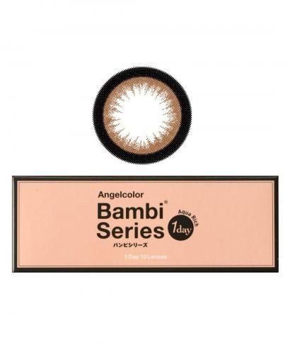 Japan Angelcolor 1day Bambi Series AquaRich Eyes Contact Lenses 10 Boxes - Almond