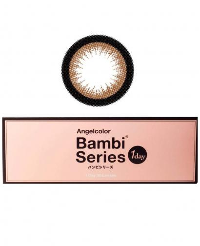 Japan Angelcolor 1day Bambi Series AquaRich Eyes Contact Lenses 30 Boxes - Almond