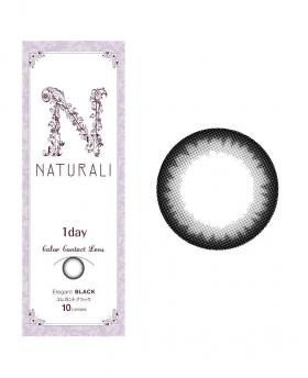 Japan Naturali 1day Eyes Contact Lenses 10 Boxes - Elegant Black