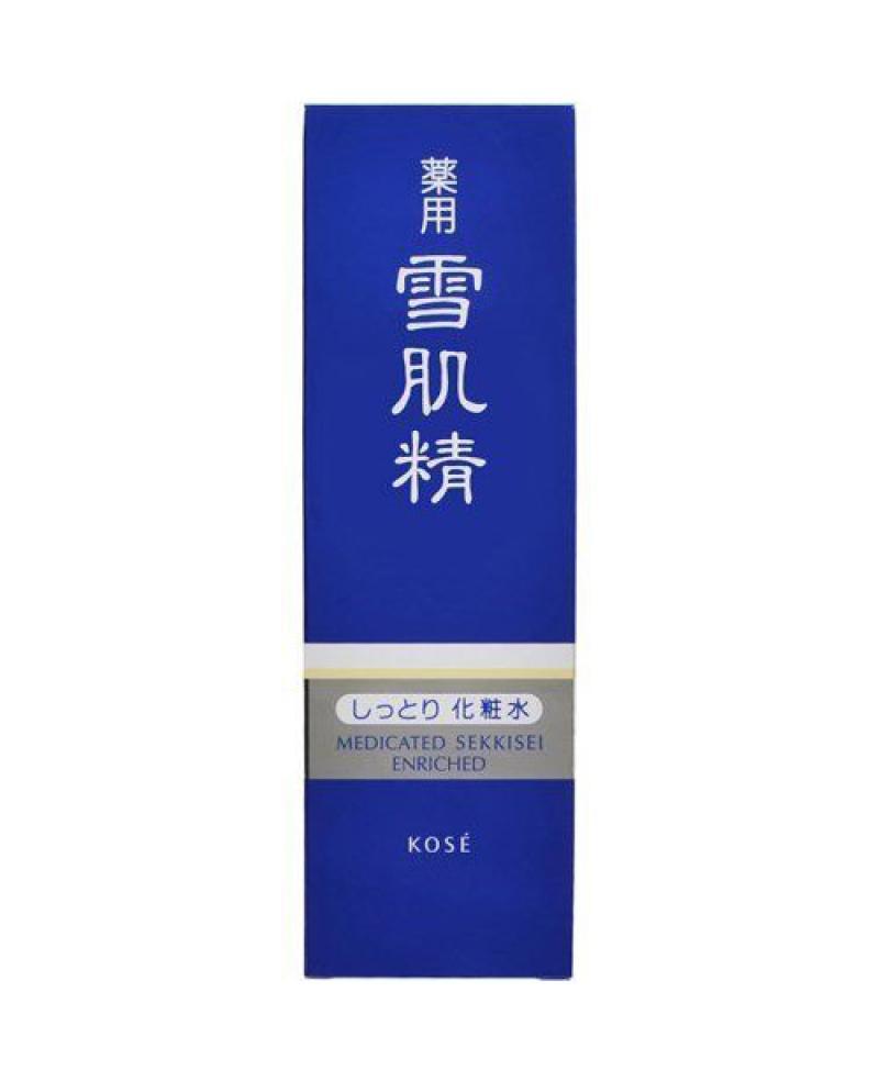 Japan Kose Medicated Sekkisei Whitening Lotion Toner Enriched Cream Jepang 360ml
