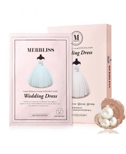 Korea Merbliss Wedding Dress Intense Hydration Coating Nude Seal Mask (5 Sheets)