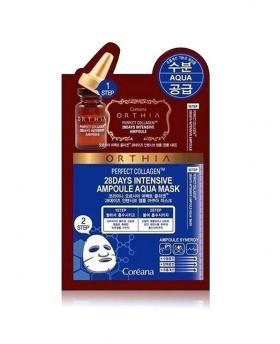 COREANA ORTHIA Perfect Collagen 28 Days Intensive Ampoule Aqua Mask 10 Pieces
