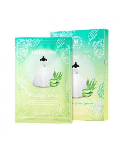Korea MERBLISS Wedding Dress Aloe Soothing Clear Seal Mask 5 Pieces
