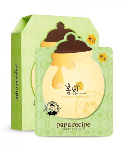 Korea Papa Recipe Bombee Green Honey Mask Pack (10 sheets)