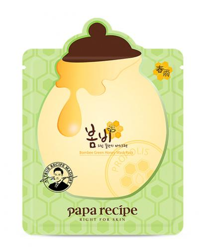 Korea Papa Recipe Bombee Green Honey Mask Pack (1 sheet)