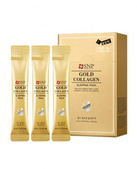 Korea SNP Gold Collagen Sleeping Pack No Wash Mask 20 Pieces / 1box