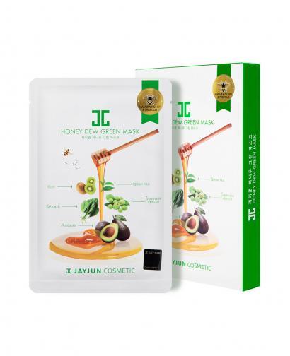 JAYJUN Honey Dew Green Mask - 1 Box of 5 Sheets